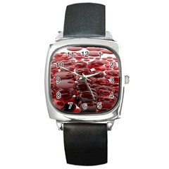 Red Lentils Square Metal Watch