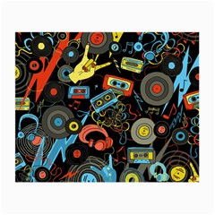 Music Pattern Small Glasses Cloth