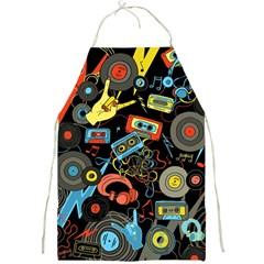 Music Pattern Full Print Aprons