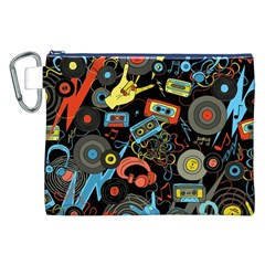Music Pattern Canvas Cosmetic Bag (xxl)