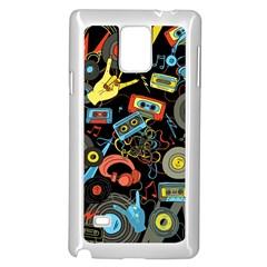 Music Pattern Samsung Galaxy Note 4 Case (white)