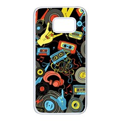 Music Pattern Samsung Galaxy S7 White Seamless Case
