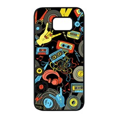 Music Pattern Samsung Galaxy S7 edge Black Seamless Case
