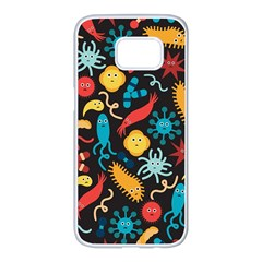Virus Pattern Samsung Galaxy S7 edge White Seamless Case