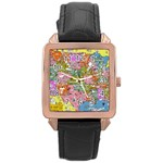Mad Magazine Sadic Comics Humor Funny Comics Poster Rose Gold Leather Watch  Front