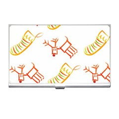 Stocking Reindeer Wood Pattern  Business Card Holders