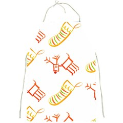 Stocking Reindeer Wood Pattern  Full Print Aprons