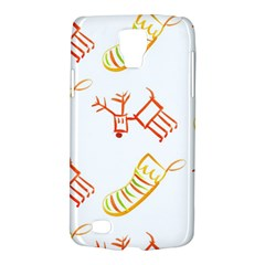 Stocking Reindeer Wood Pattern  Galaxy S4 Active