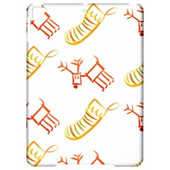 Stocking Reindeer Wood Pattern  Apple iPad Pro 9.7   Hardshell Case