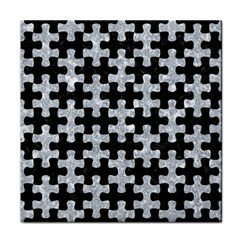 Puzzle1 Black Marble & Gray Marble Tile Coaster