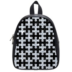 Puzzle1 Black Marble & Gray Marble School Bag (small)