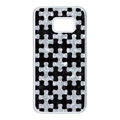 Puzzle1 Black Marble & Gray Marble Samsung Galaxy S7 White Seamless Case