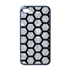 Hexagon2 Black Marble & Gray Marble (r) Apple Iphone 4 Case (black)