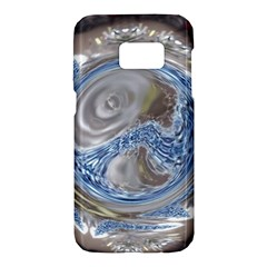 Silver Gray Blue Geometric Art Circle Samsung Galaxy S7 Hardshell Case