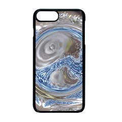 Silver Gray Blue Geometric Art Circle Apple Iphone 7 Plus Seamless Case (black)