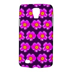 Pink Flower Pattern On Wine Red Galaxy S4 Active