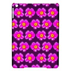 Pink Flower Pattern On Wine Red Ipad Air Hardshell Cases