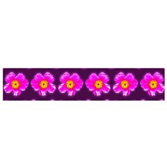 Pink Flower Pattern On Wine Red Flano Scarf (Small)