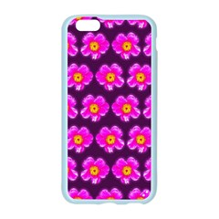 Pink Flower Pattern On Wine Red Apple Seamless iPhone 6/6S Case (Color)