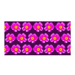 Pink Flower Pattern On Wine Red Satin Wrap