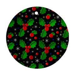 Xmas magical pattern Ornament (Round)
