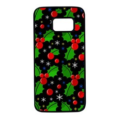 Xmas magical pattern Samsung Galaxy S7 Black Seamless Case