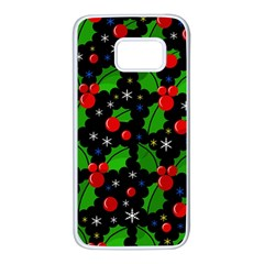 Xmas Magical Pattern Samsung Galaxy S7 White Seamless Case