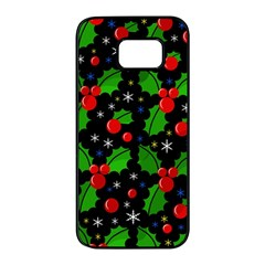 Xmas magical pattern Samsung Galaxy S7 edge Black Seamless Case