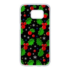 Xmas magical pattern Samsung Galaxy S7 edge White Seamless Case
