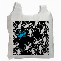 Blue Lizard Recycle Bag (one Side)