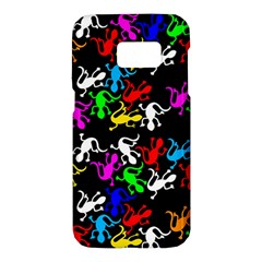 Colorful lizards pattern Samsung Galaxy S7 Hardshell Case