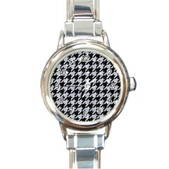 HTH1 BK-GY MARBLE Round Italian Charm Watch