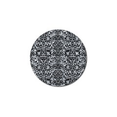 Damask2 Black Marble & Gray Marble (r) Golf Ball Marker