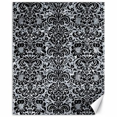 Damask2 Black Marble & Gray Marble (r) Canvas 11  X 14