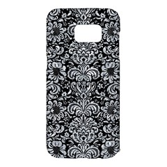 Damask2 Black Marble & Gray Marble Samsung Galaxy S7 Edge Hardshell Case