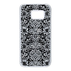 Damask2 Black Marble & Gray Marble Samsung Galaxy S7 White Seamless Case