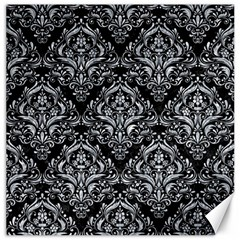 Damask1 Black Marble & Gray Marble Canvas 12  X 12