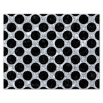 CIRCLES2 BLACK MARBLE & GRAY MARBLE (R) Jigsaw Puzzle (Rectangular) Front