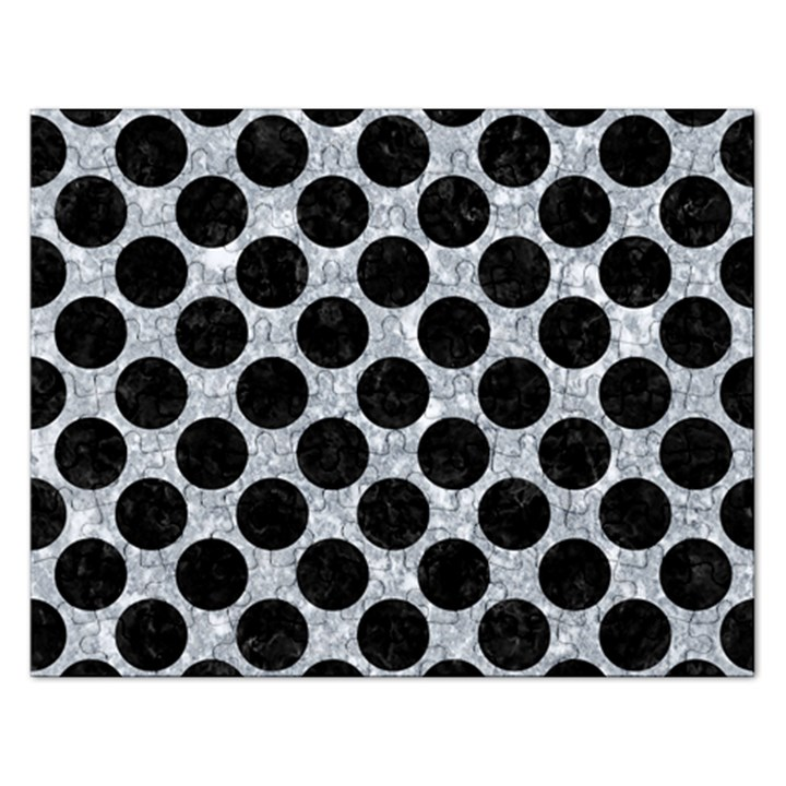 CIRCLES2 BLACK MARBLE & GRAY MARBLE (R) Jigsaw Puzzle (Rectangular)