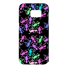 Purple lizards pattern Samsung Galaxy S7 Edge Hardshell Case