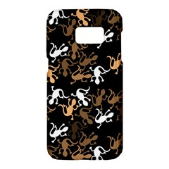Brown lizards pattern Samsung Galaxy S7 Hardshell Case