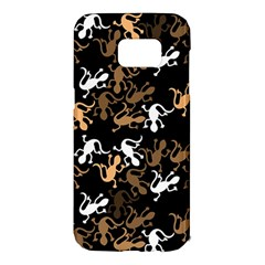 Brown lizards pattern Samsung Galaxy S7 Edge Hardshell Case