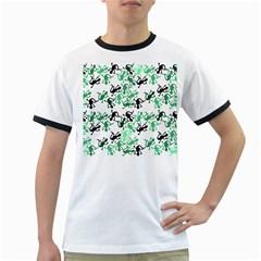 Lizards pattern - green Ringer T-Shirts