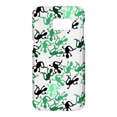 Lizards pattern - green Samsung Galaxy S7 Hardshell Case