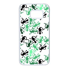 Lizards pattern - green Samsung Galaxy S7 White Seamless Case