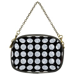 Circles1 Black Marble & Gray Marble Chain Purse (one Side)