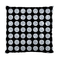 Circles1 Black Marble & Gray Marble Standard Cushion Case (one Side)