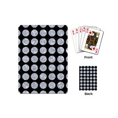 Circles1 Black Marble & Gray Marble Playing Cards (mini)