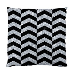 Chevron2 Black Marble & Gray Marble Standard Cushion Case (one Side)
