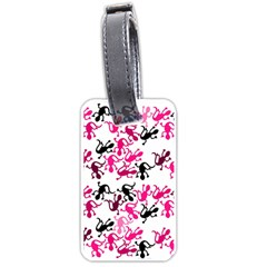 Lizards pattern - magenta Luggage Tags (One Side)